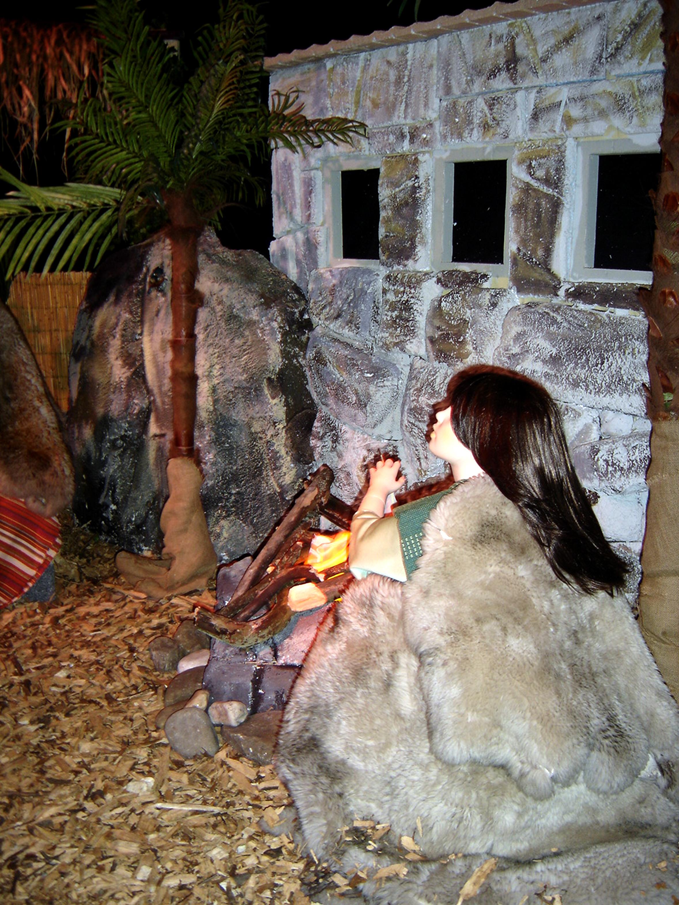 Kind bij het vuur